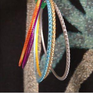NWOT Colorful Rainbow Bangles Bracelet Vintage